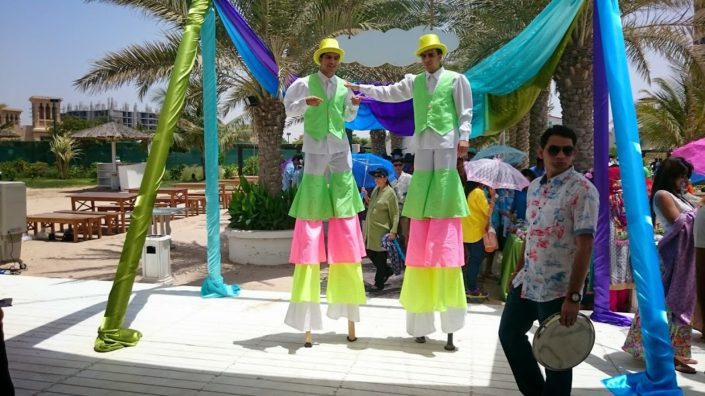 Stilt Walker show Dubai